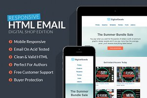 Digital Goods Responsive HTML Email