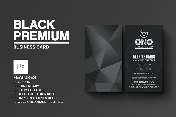 Black Premium Business Card Cards