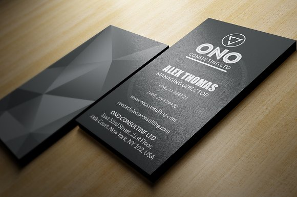 Black premium business card business card templates creative market reheart Images