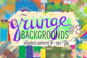 10 grunge colorful patterns #3