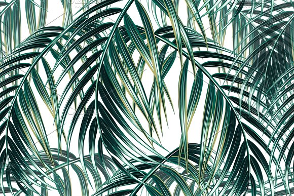Tropical Palm Leaves Pattern Graphic Patterns Creative Market Inspiration Tropical Leaves Pattern