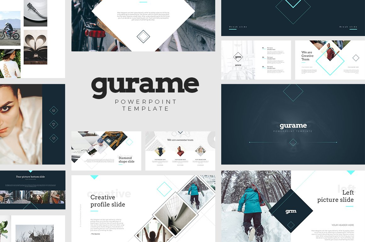 Gurame Powerpoint Template Presentation Templates Creative Market