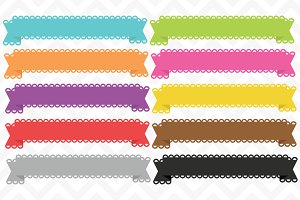Clip Art Lace Banner Ribbon Vectors