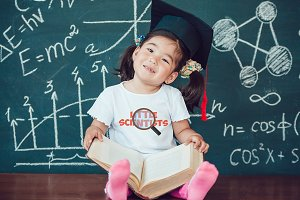 Little Scientists T-Shirt Mock-Up