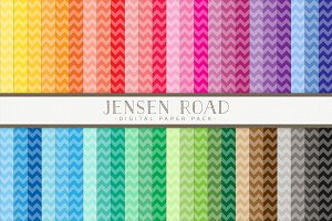 Thin Chevron Rainbow Value Pack