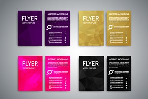 Flyer Design Templates Set