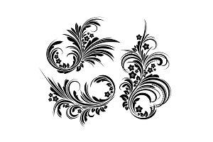 Elegant floral element