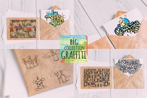 Graffiti big vector set