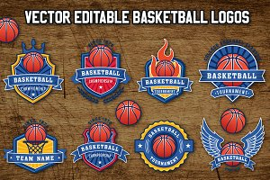 Vector Basketball Logo Templates