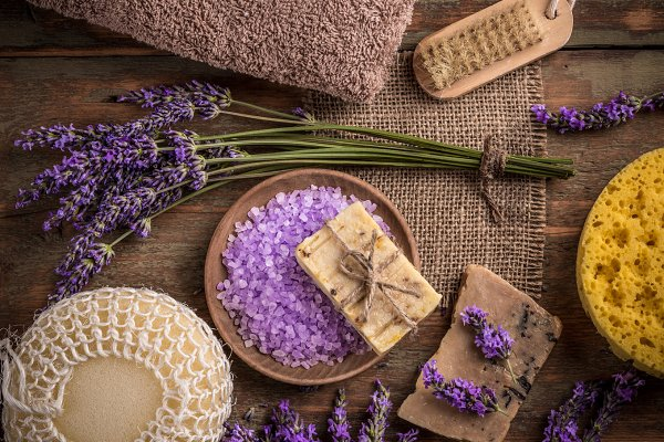 Health Stock Photos: Grafvision photography - Natural soap, lavender and salt