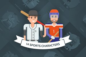 Sports Vector Characters Set