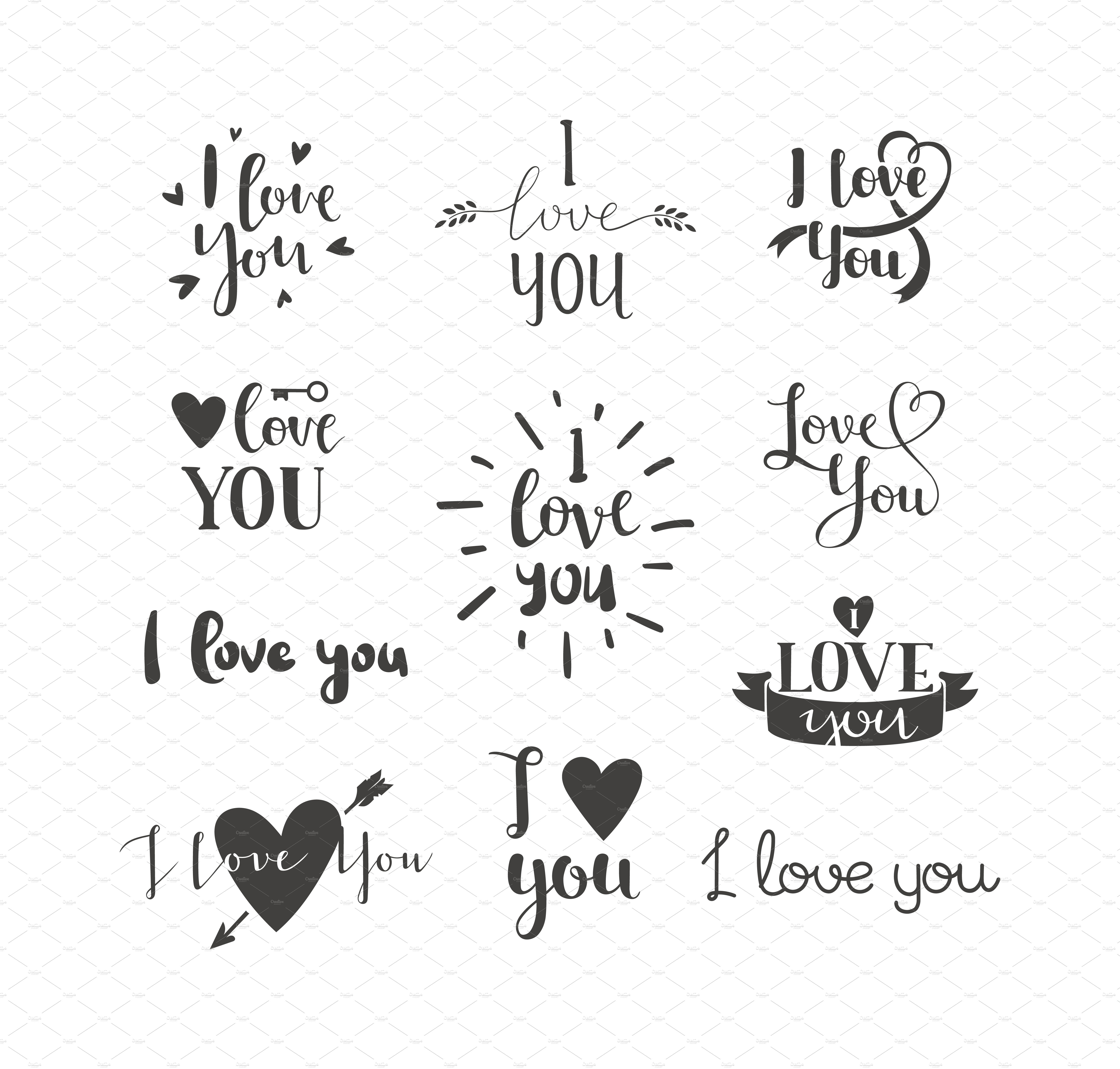 loving you letters i you vector text illustrations creative market 23515 | 2love letter