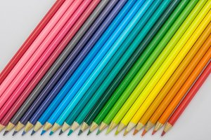 Colorful pencil background