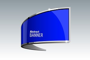 Shiny gloss blue banner