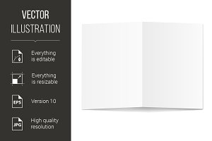 White blank paper card
