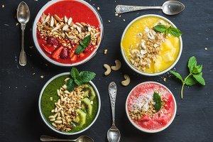 Healthy summer breakfast concept