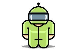 Cyborg robot toy