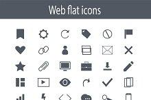 Icon set, flat design