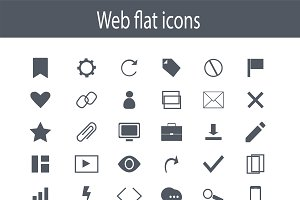 Icon set, flat design