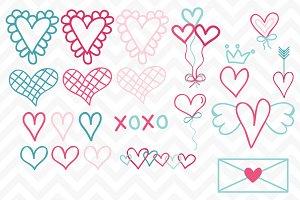 Clip Art Valentine Doodle Vectors