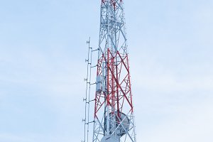Large telecom cell tower