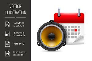 Sound speaker and calendar