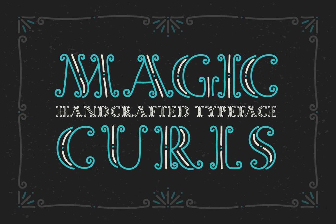 Magic Curls Font Display Fonts Creative Market