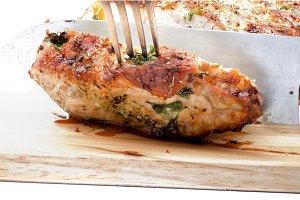 Slicing Roasted Loin Pork