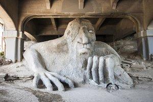 Seattle Troll Under Bridge