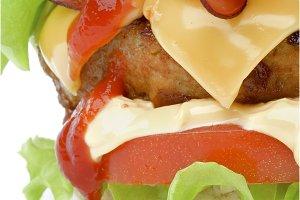 Hamburger with Bacon