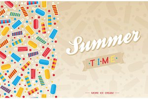 Ice Cream summer poster