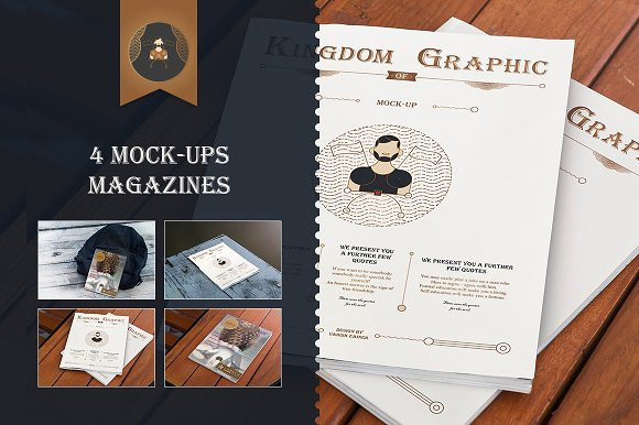 Mock-up Magazine vol.1 - Product Mockups