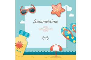 Summertime traveling poster