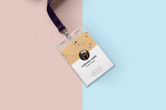 minimal creative id card design cards
