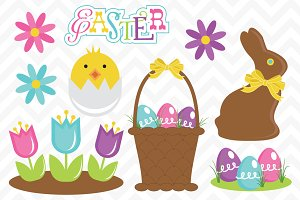 Clip Art Easter Set Vectors