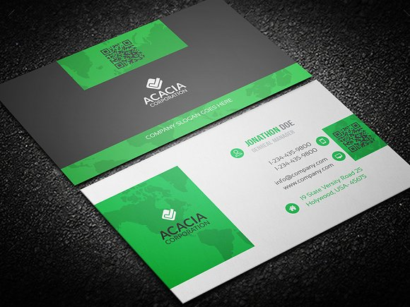Sleek and elegant business card business card templates creative sleek and elegant business card business card templates creative market colourmoves