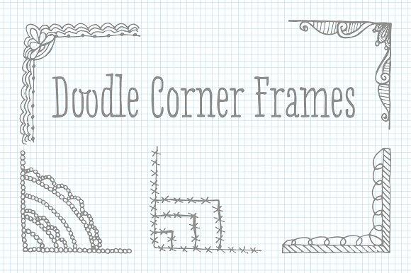 Clip Art Doodle Corner Frame Vectors ~ Illustrations ~ Creative Market