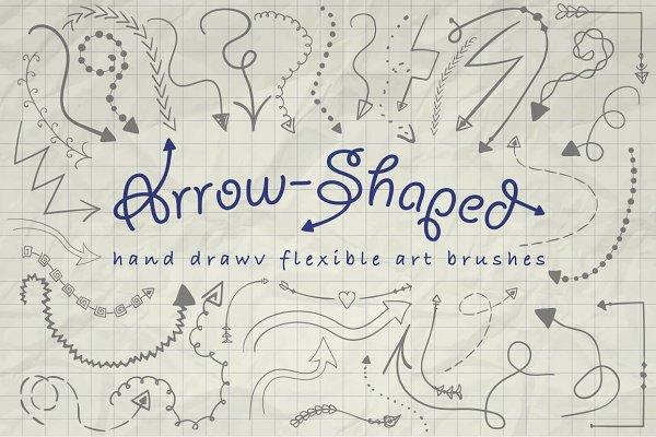 Illustrator Arrow-Shaped Art Brushe…