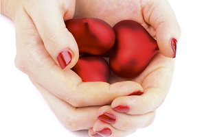 Valentine Hearts in Hands