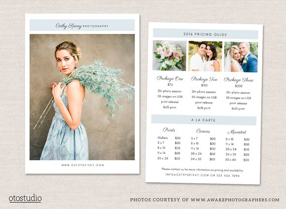 photography flyer pricing guide flyer templates creative market