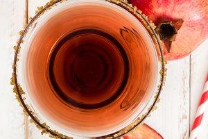 Pomegranate margarita cocktail