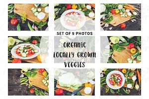 Organic veggies. Pack of photos.