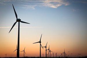 Windfarm & sunset