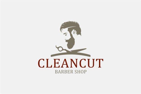 barber shop logo logo templates on creative market