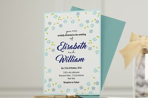 Forget Me Not - Wedding Invitation