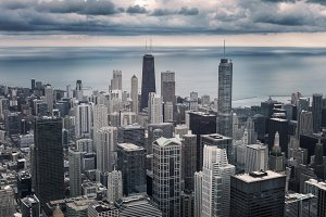 Chicago cityscape view