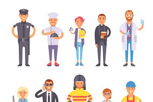People professions vector set