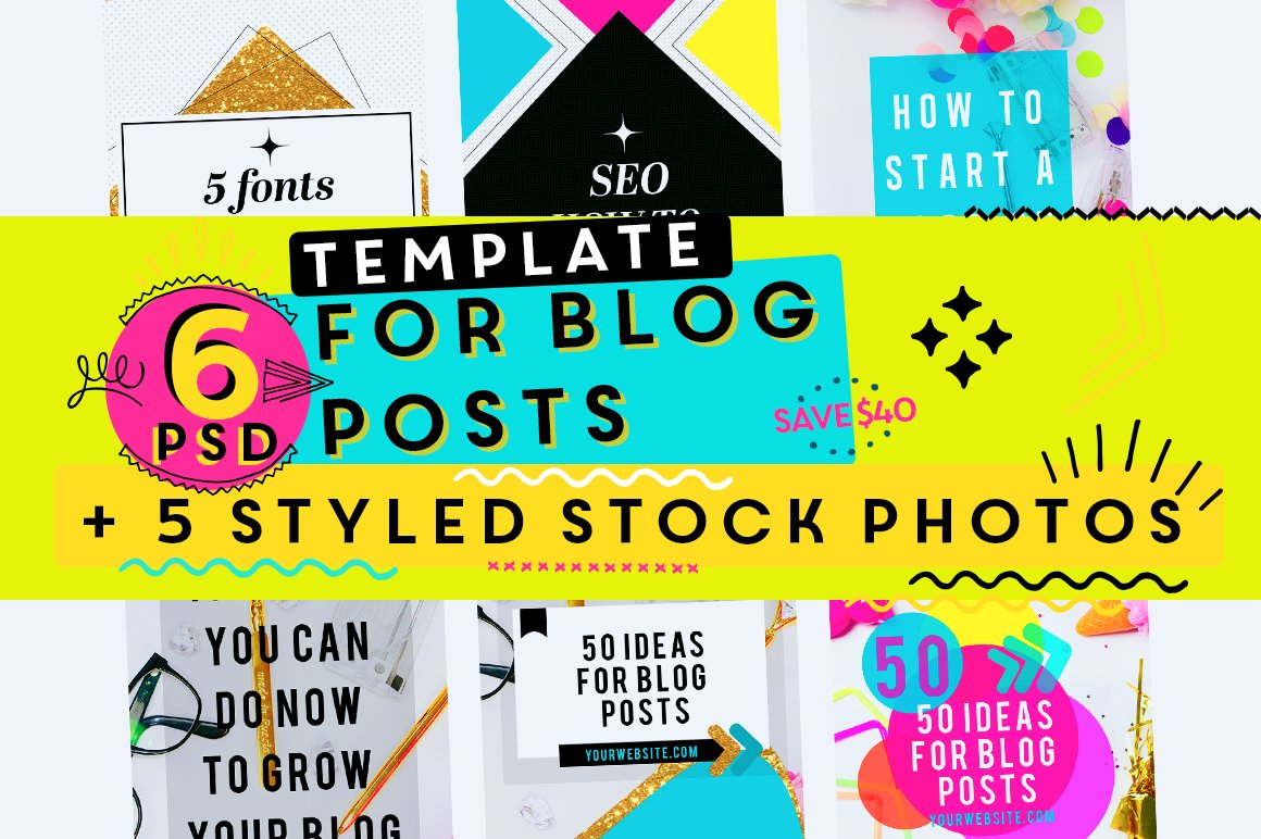 Sale 10 Blog Post Templates Bonus Social Media Templates