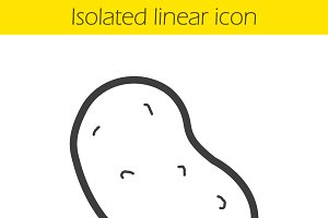 Potato linear icon. Vector