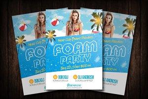 Foam Party Flyer Template